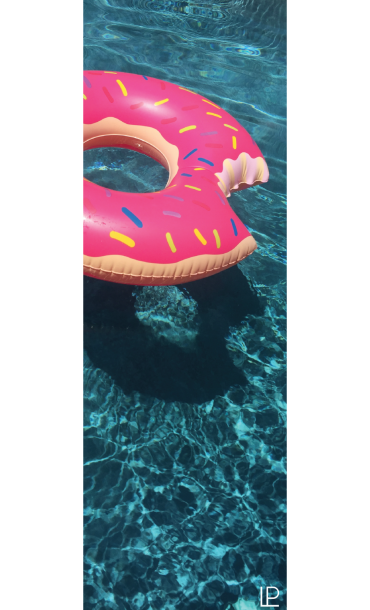 Donut Floatie Printed Yoga Fitness Mat
